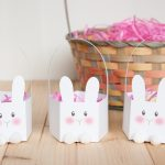 Printable Bunny Basket   The Melrose Family   Free Printable Easter Egg Basket Templates