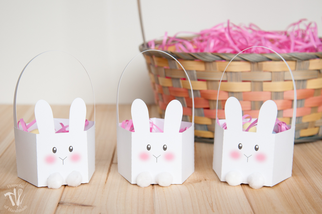Printable Bunny Basket - The Melrose Family - Free Printable Easter Egg Basket Templates