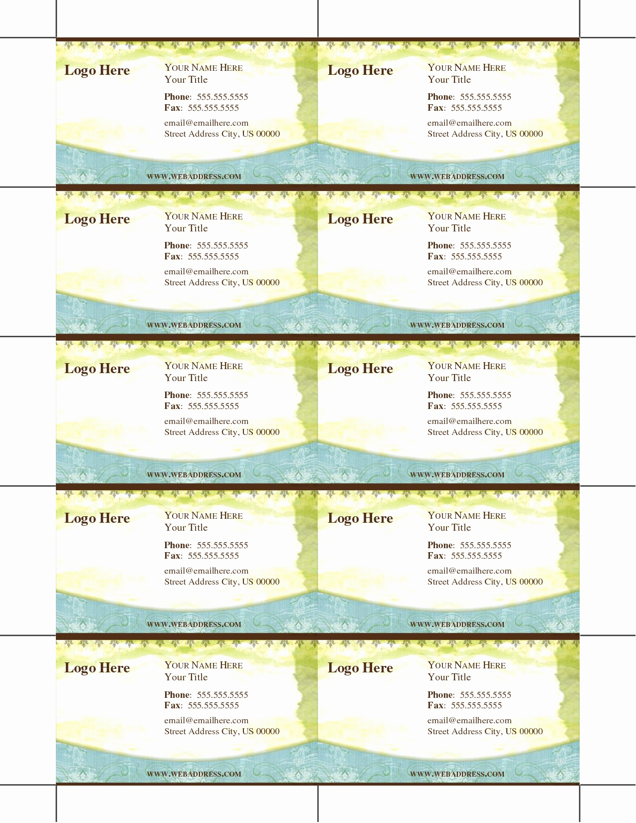 Printable Business Cards Online Inspirational Free Printable - Free Printable Business Cards