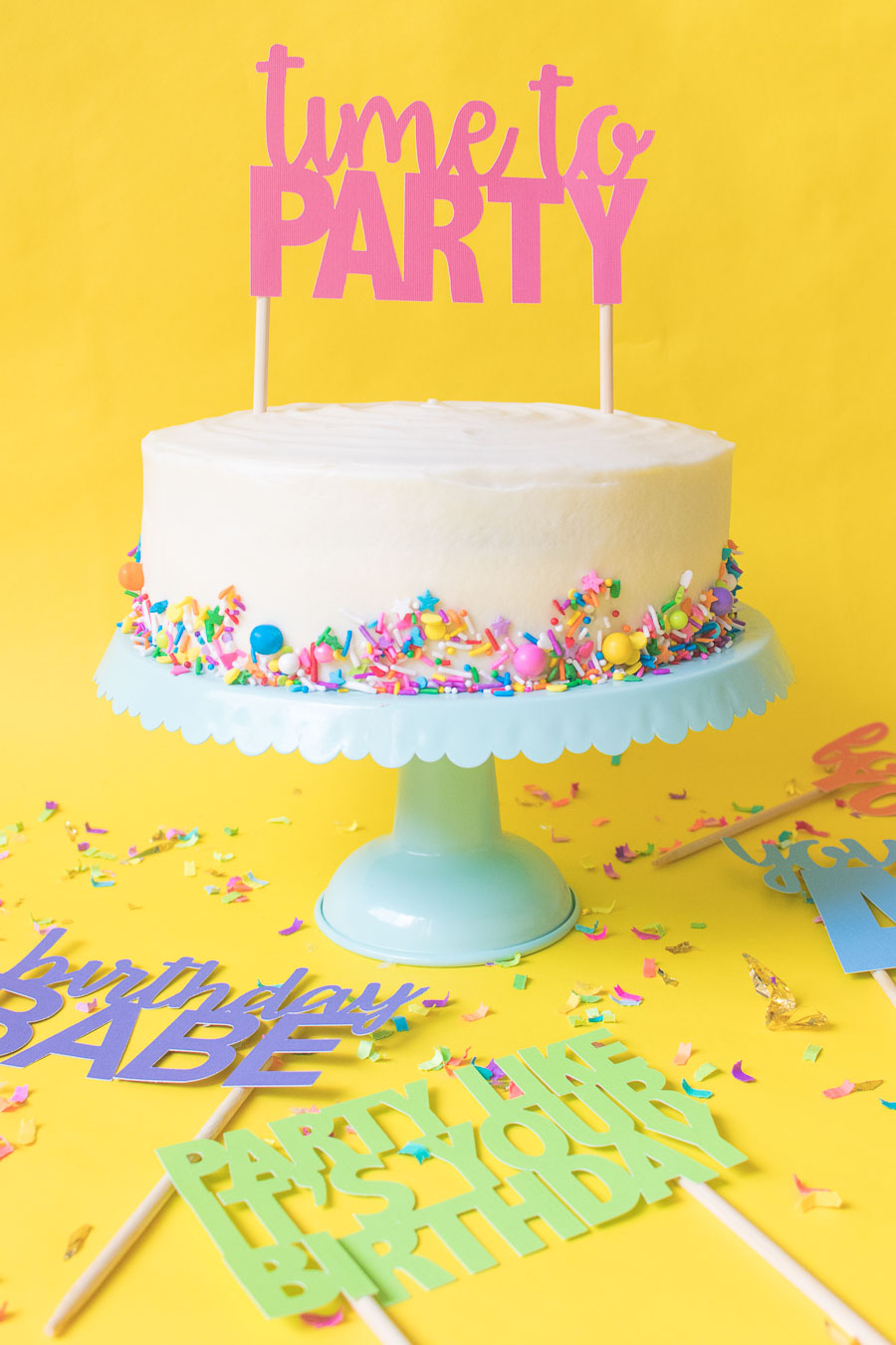 Printable Cake Toppers For Birthdays (+ Free Svg Templates!) - Free Printable Happy Birthday Cake Topper