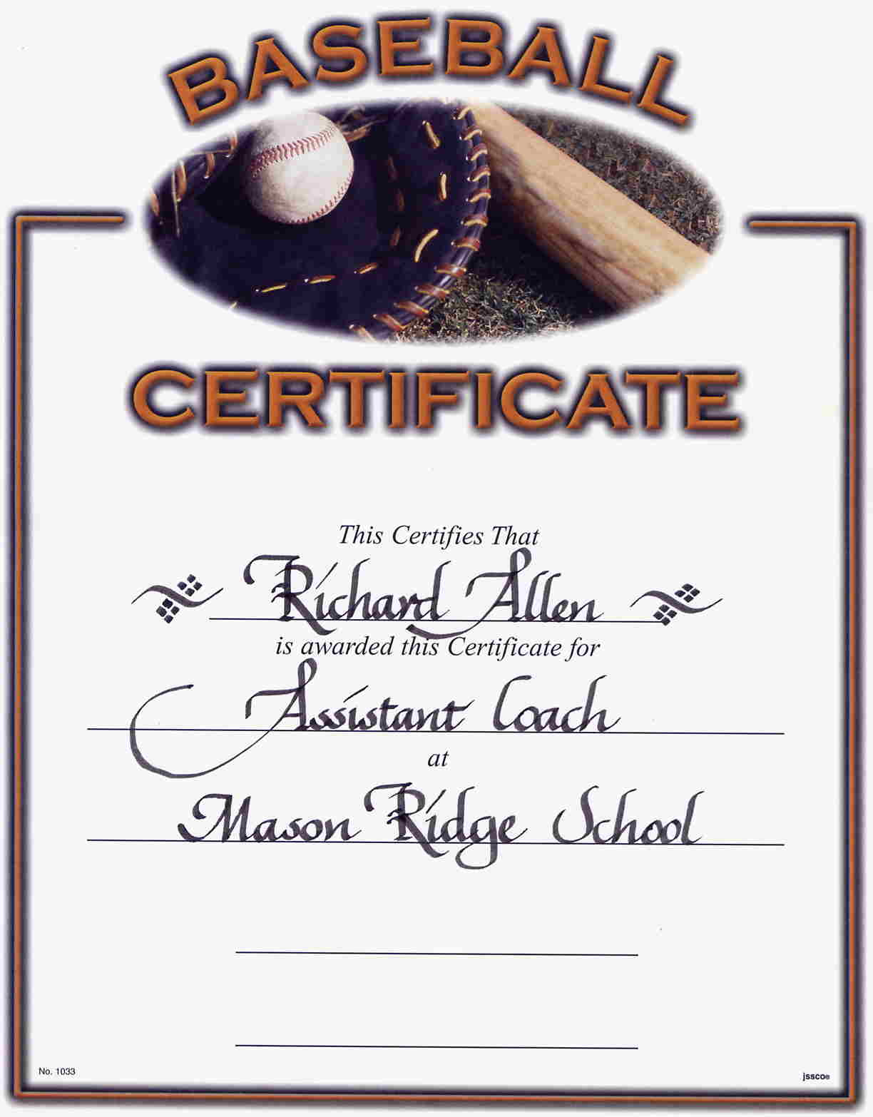 Printable Certificates For Baseball | Download Them Or Print - Free Printable Baseball Certificates