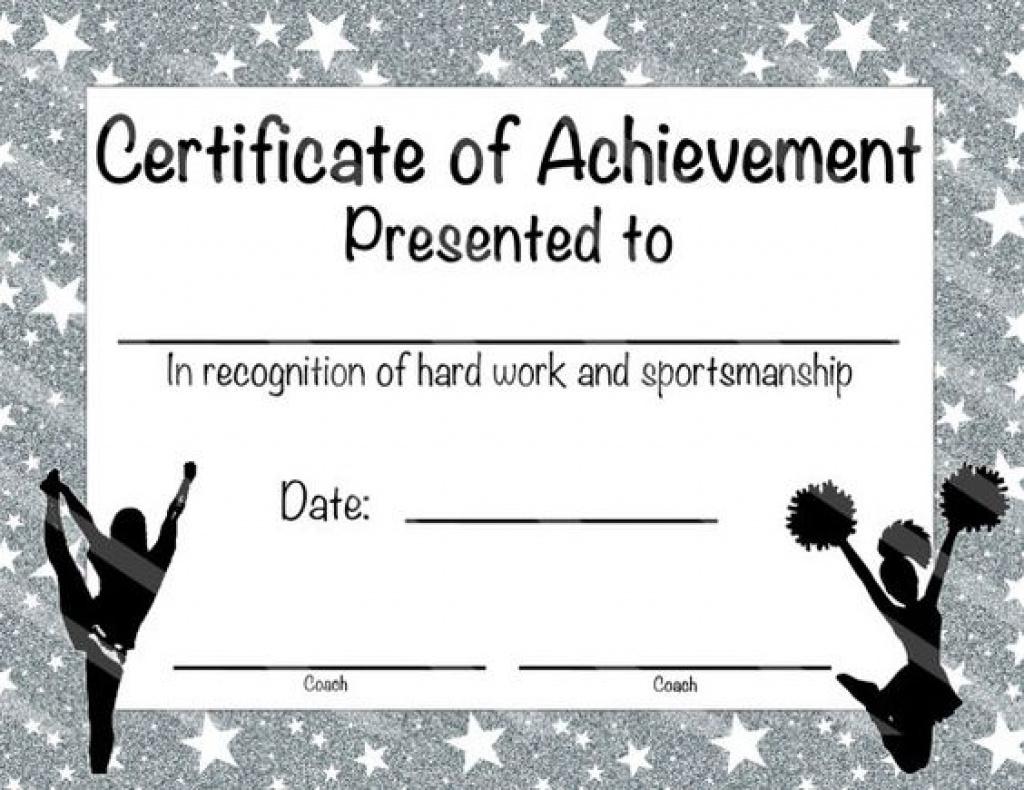 Printable Cheerleading Certificates 178 Best Sports Team Favors And - Free Printable Cheerleading Certificates