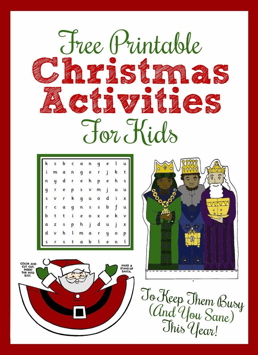 Printable Christmas Activities For Kids - Thecraftpatchblog - Free Printable Craft Activities
