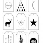 Printable Christmas Gift Tags   Taryn Whiteaker   Christmas Gift Tags Free Printable Black And White