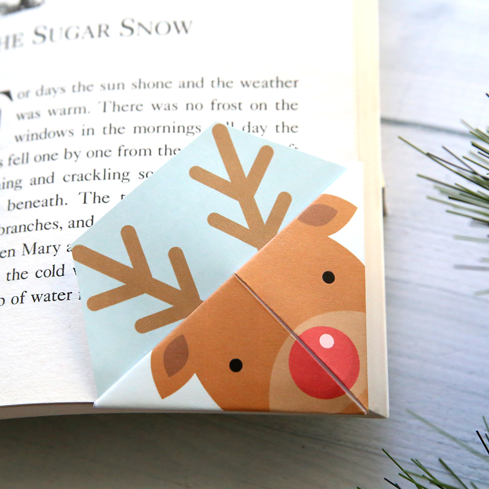 Printable Christmas Origami Bookmarks - It's Always Autumn - Free Printable Bookmarks For Christmas