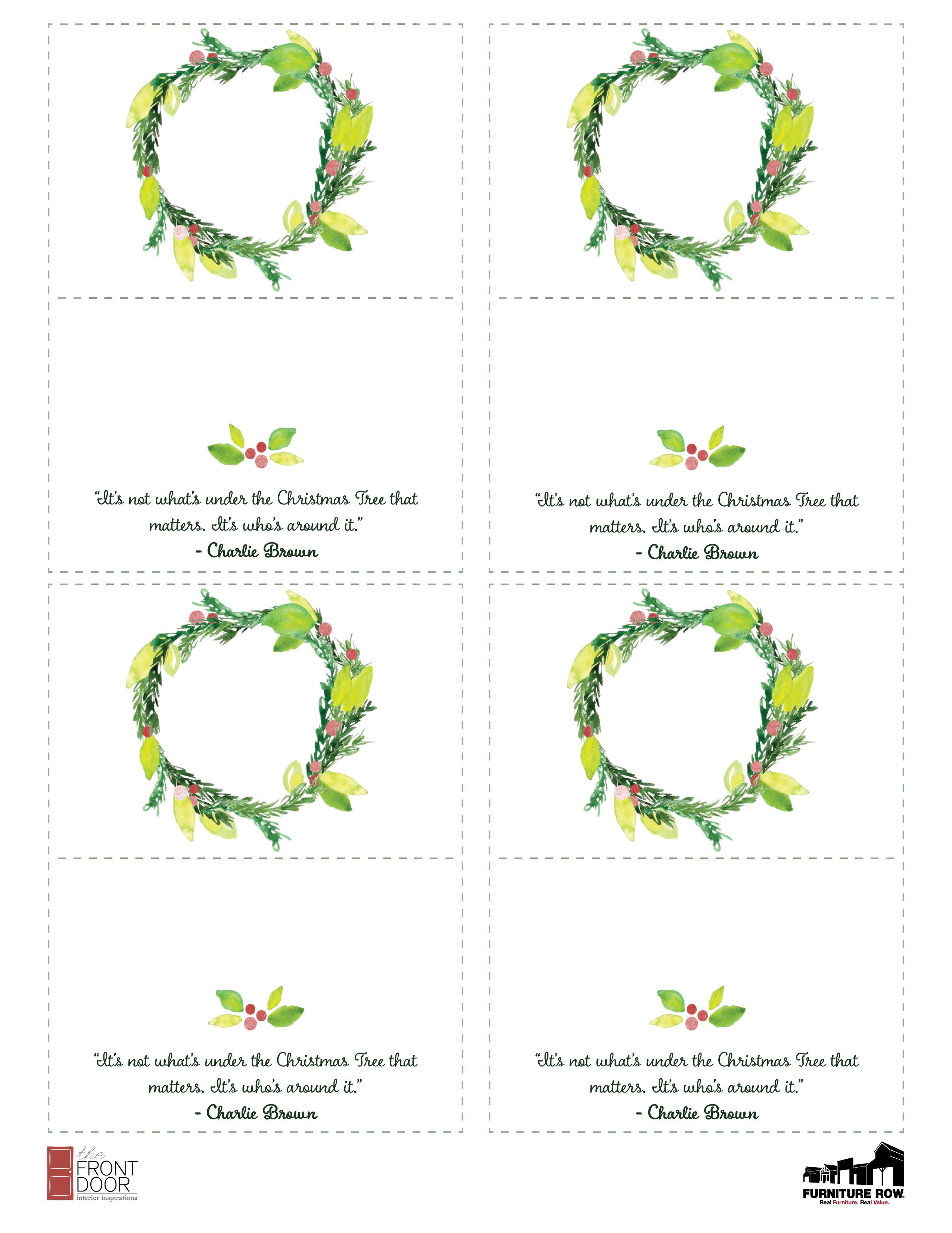 Printable Christmas Place Name Cards For The Table | Holiday - Free Printable Place Cards