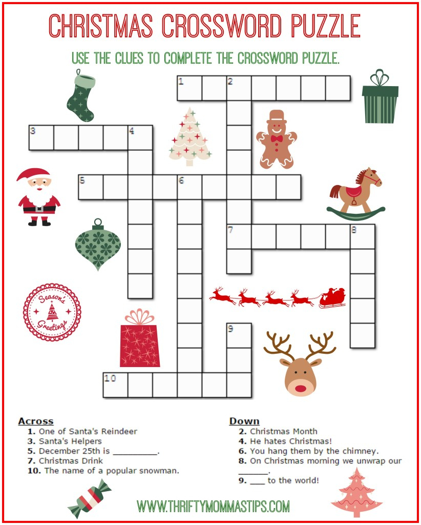 Printable Christmas Puzzles And Games – Festival Collections - Free Printable Christmas Puzzles And Games