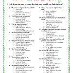 Printable Christmas Song Trivia | Christmas | Christmas Trivia   Christmas Song Lyrics Game Free Printable