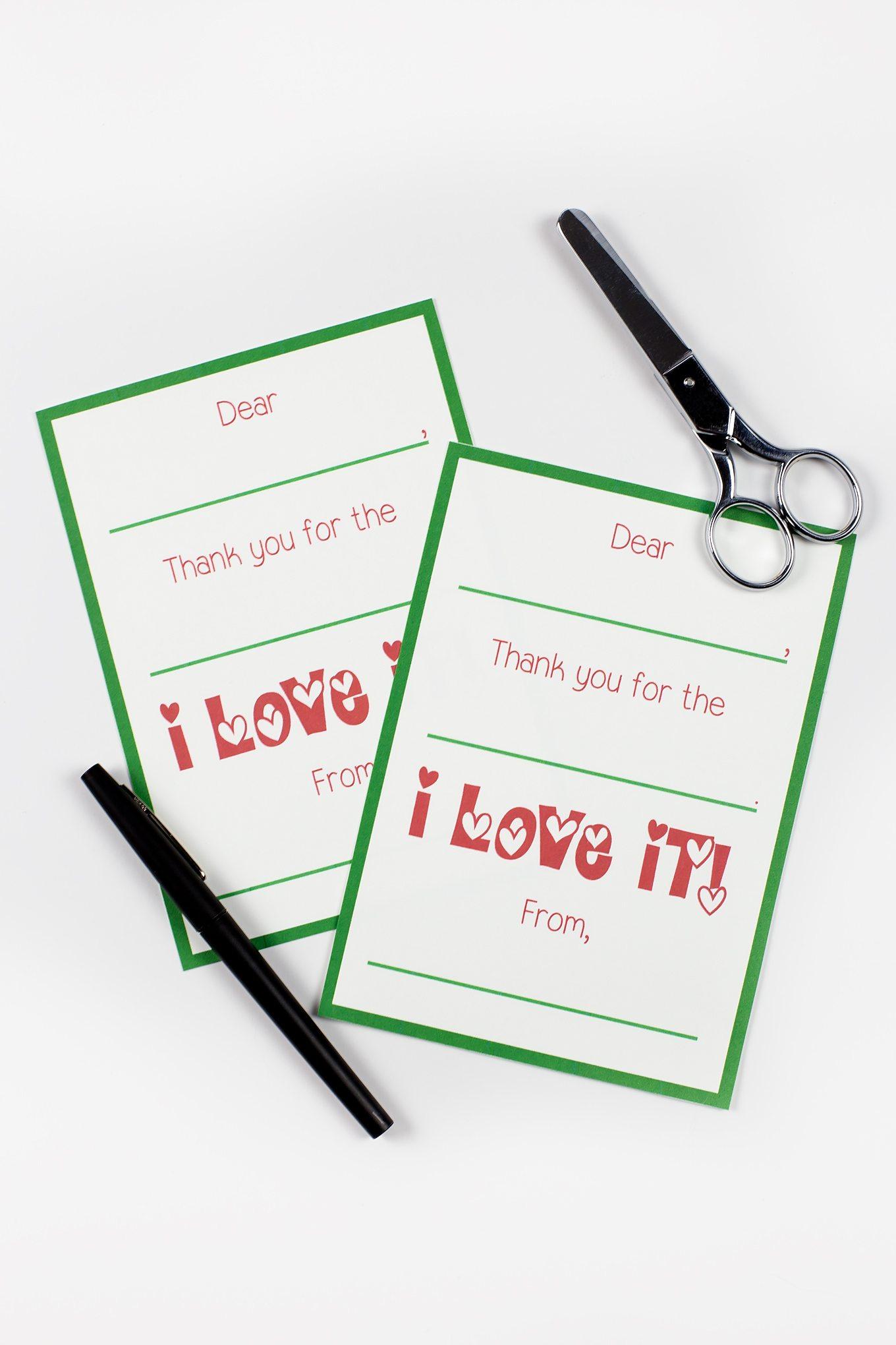Printable Christmas Thank You Cards - Christmas Thank You Cards Printable Free