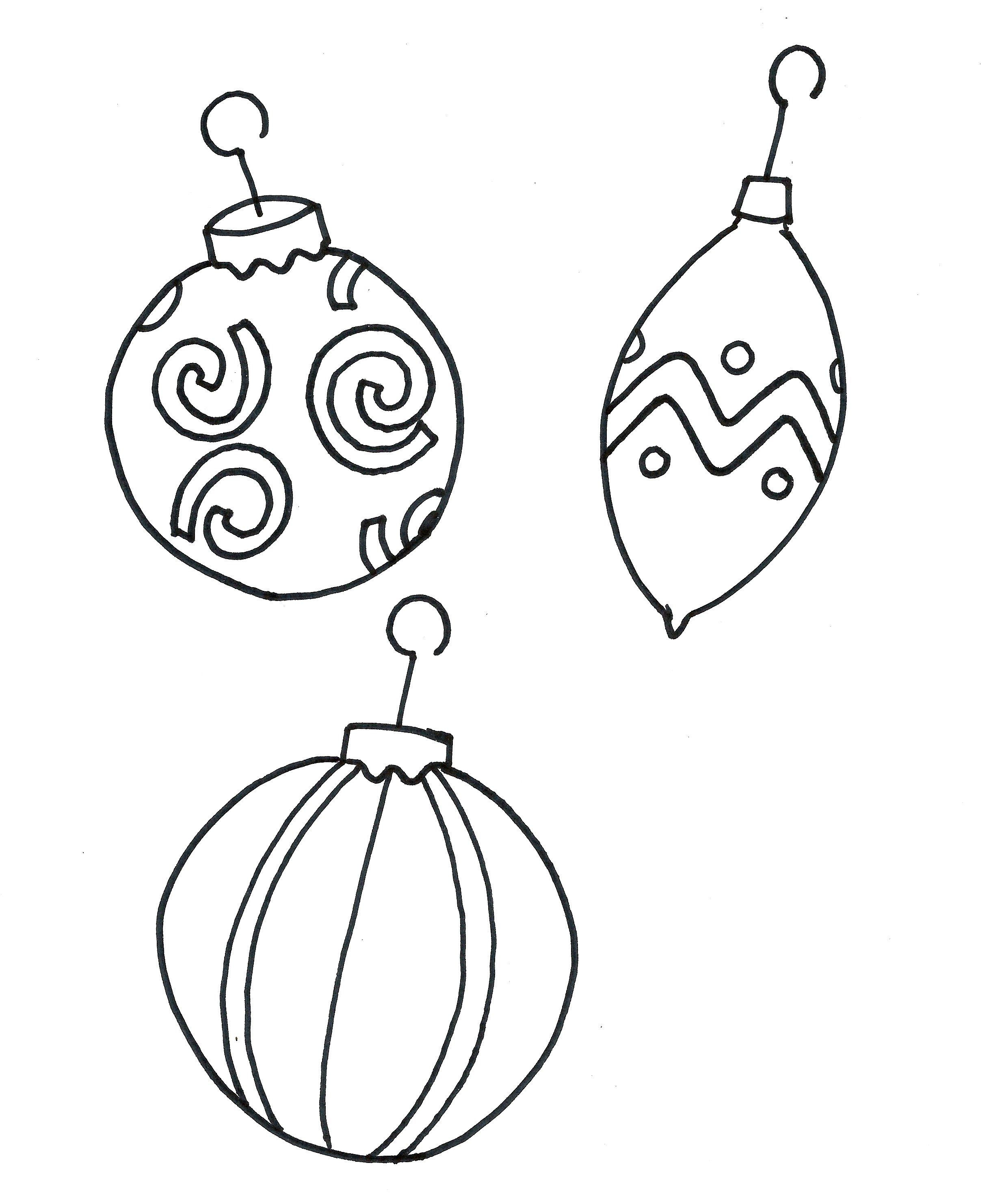 Printable Coloring Pages Christmas Ornament Free | Christmas Crafts - Free Printable Christmas Tree Ornaments Coloring Pages