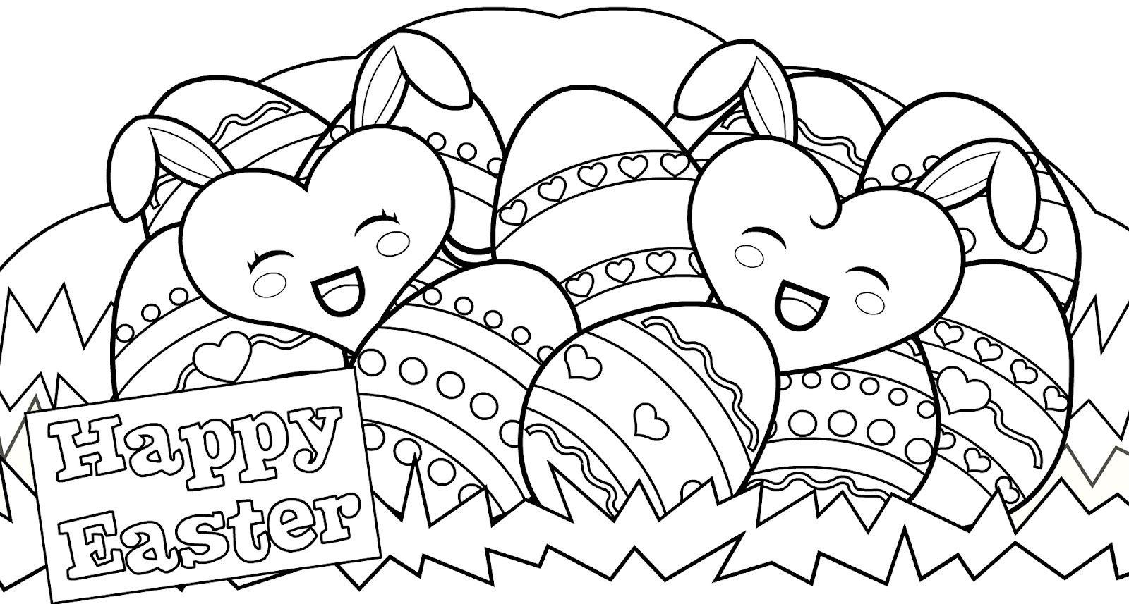 Printable Coloring Pages Easter - Childrenarepresent - Free Printable Easter Colouring Sheets