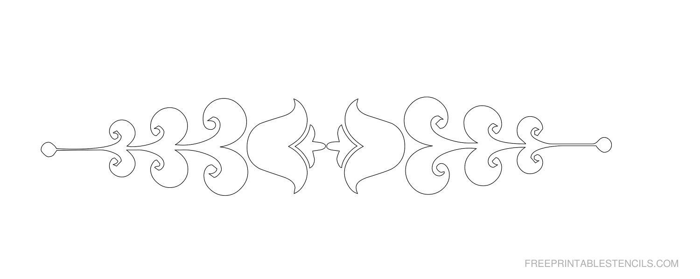 Printable Decorative Border Stencils   Free Printable Stencils - Free Printable Cookie Stencils