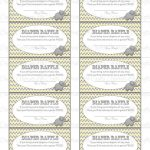 Printable Diaper Raffle Tickets Baby Shower Instant Download | Etsy – Free Printable Diaper Raffle Tickets Elephant