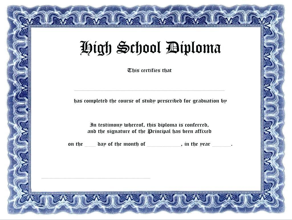 Printable Diploma Template - Rehau.hauteboxx.co - Free Printable Ged Certificate