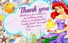 Free Printable Mermaid Thank You Cards