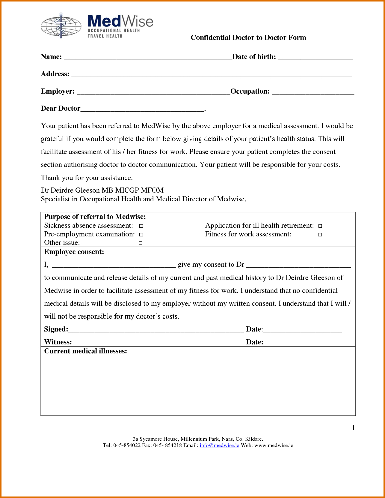 Printable Doctor Excuse Note Generic Doctors Templates Blank Form - Free Printable Doctors Excuse For Work