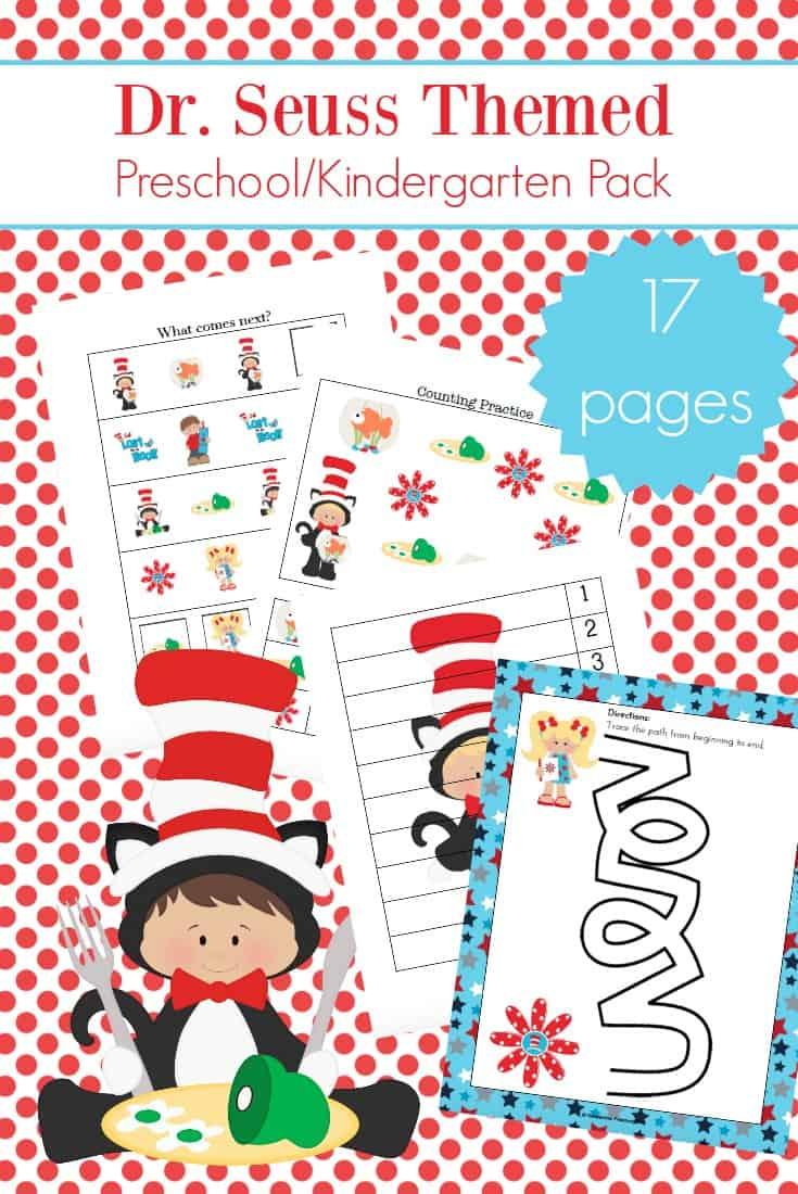 Printable Dr Seuss Activities For Kindergarten And Preschool - Free Printable Dr Seuss Math Worksheets