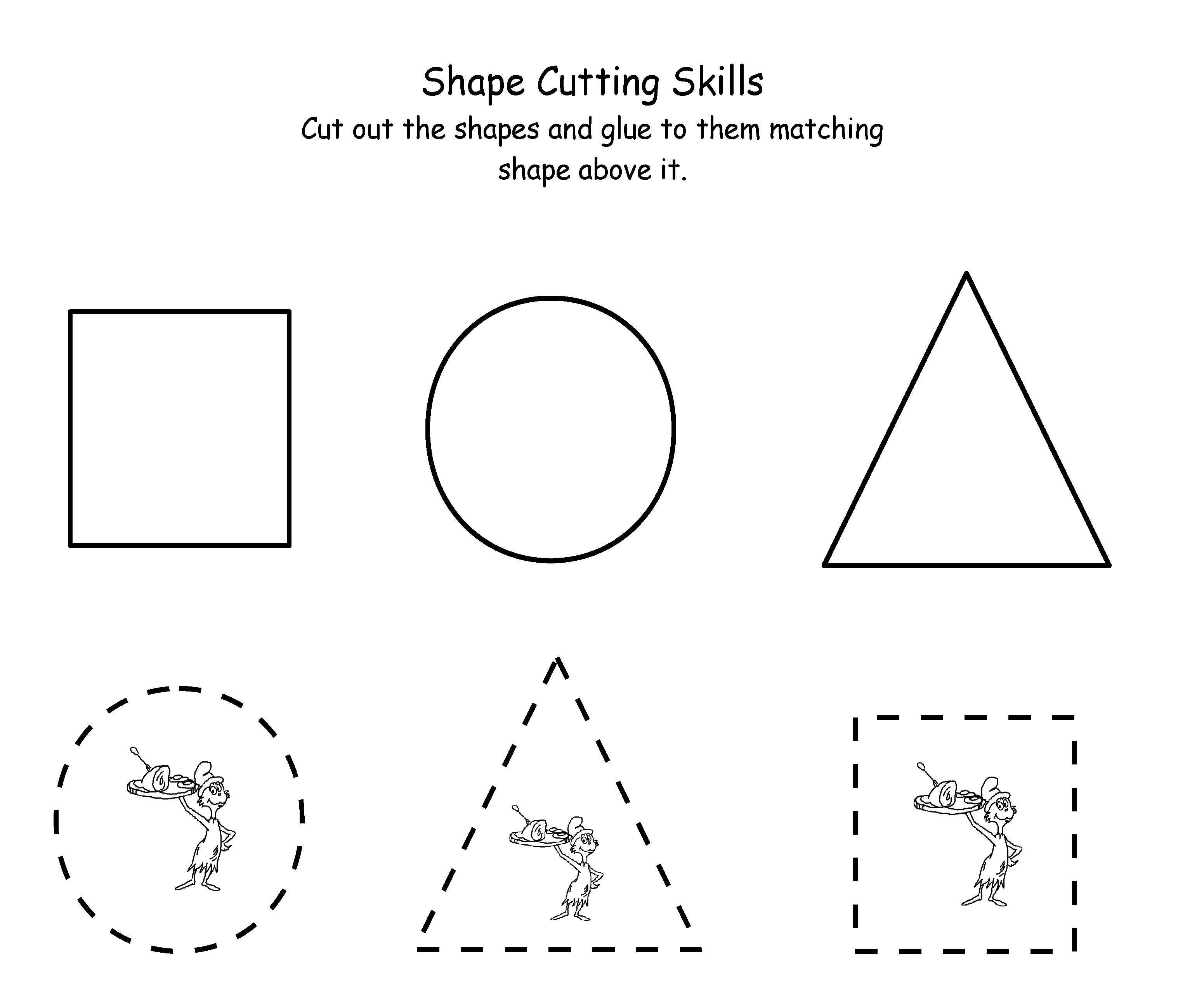 Printable Dr. Seuss Cutting | Maths | Dr Seuss Activities, Dr Seuss - Free Printable Dr Seuss Math Worksheets