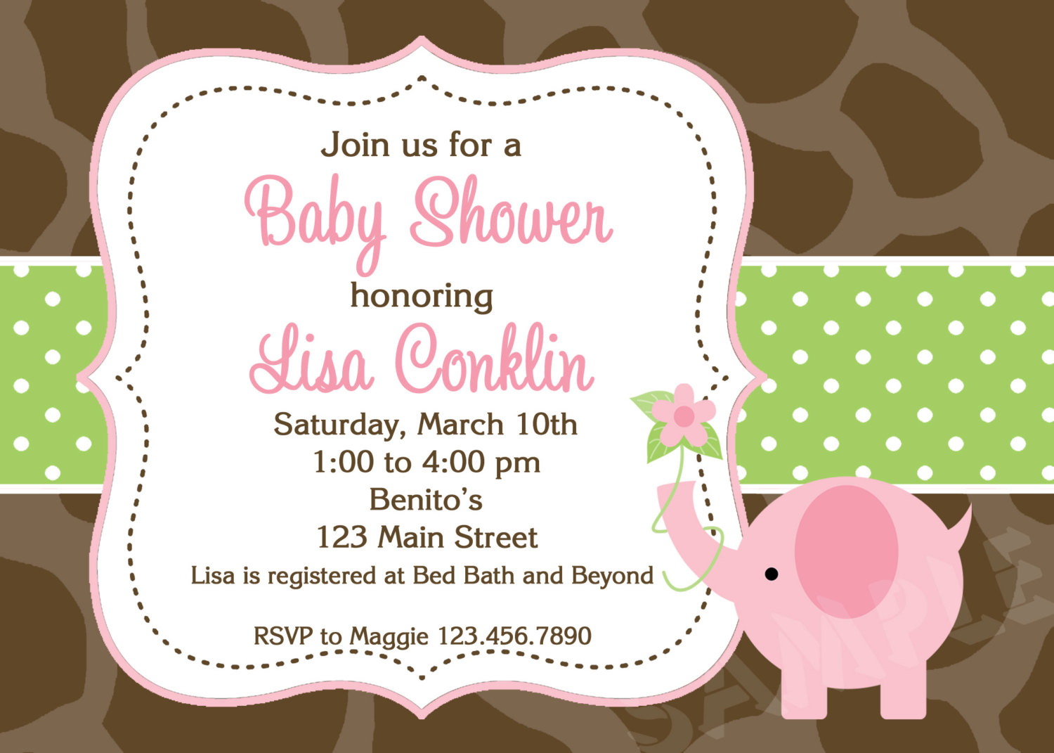 Printable Elephant Baby Shower Invitations My Face Burns After Shower - Free Printable Elephant Baby Shower Invitations