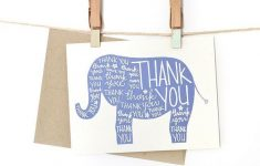 Printable Elephant Thank You Card | Printables | The Best Downloads – Free Printable Baby Shower Card