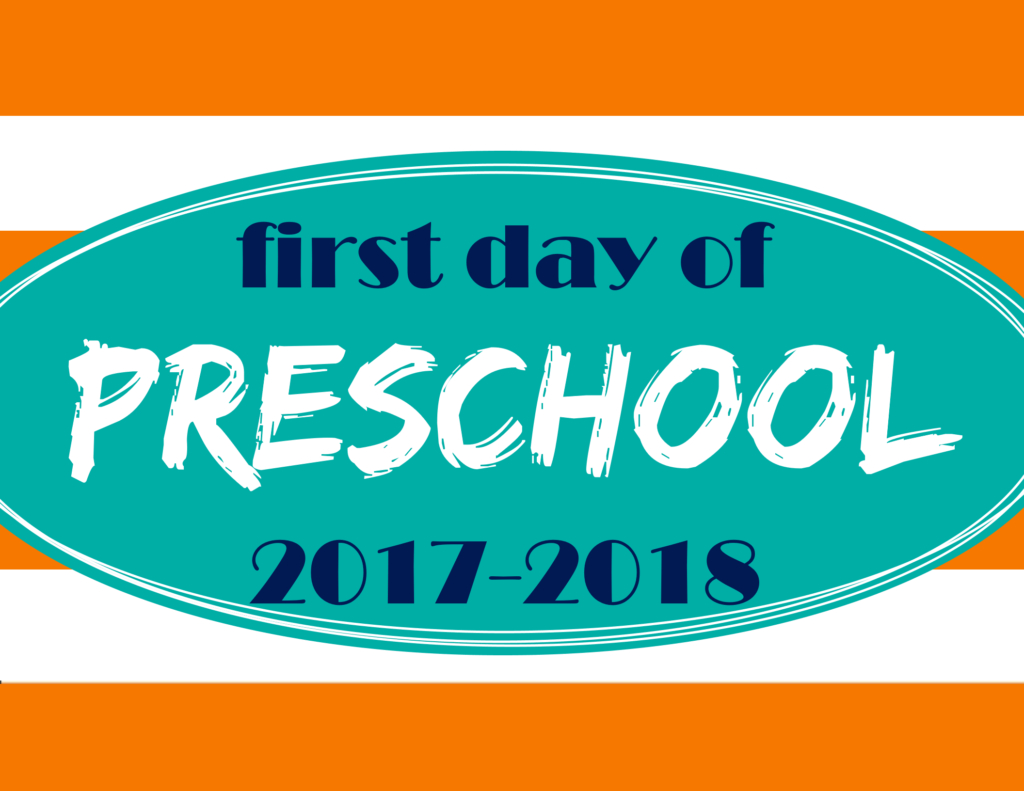 Printable First Day Of School Signs 2017 – Mary Martha Mama - Free Printable First Day Of School Signs 2017