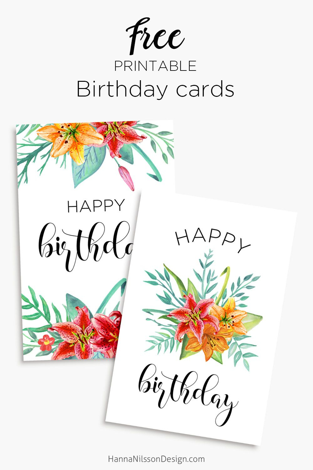 Printable Floral Birthday – Cards, Tags & Gift Box | General | Free - Free Printable Birthday Cards For Mom