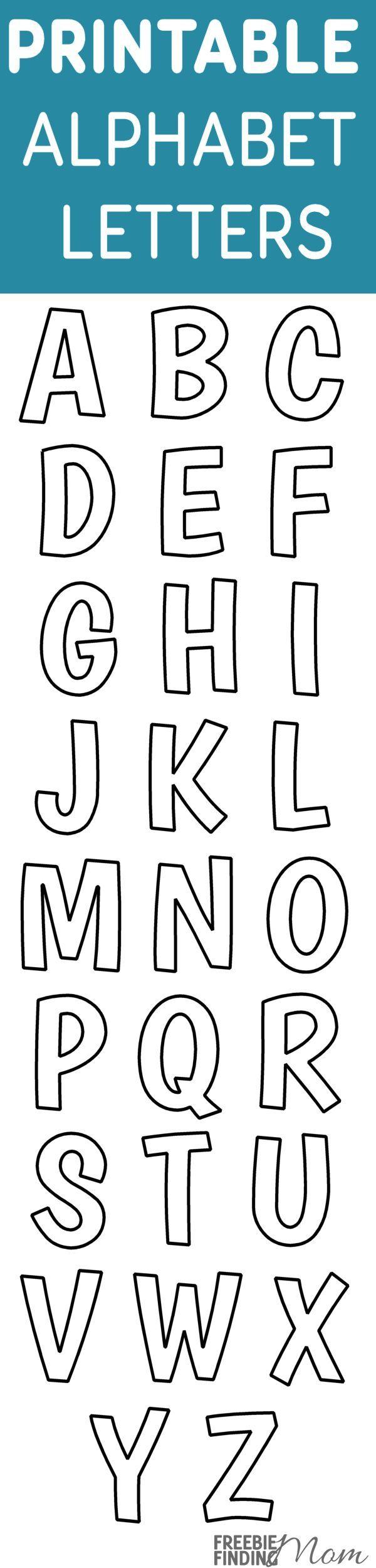 Printable Free Alphabet Templates   Diy Ideas   Pinterest   Alphabet - Free Printable Alphabet Templates