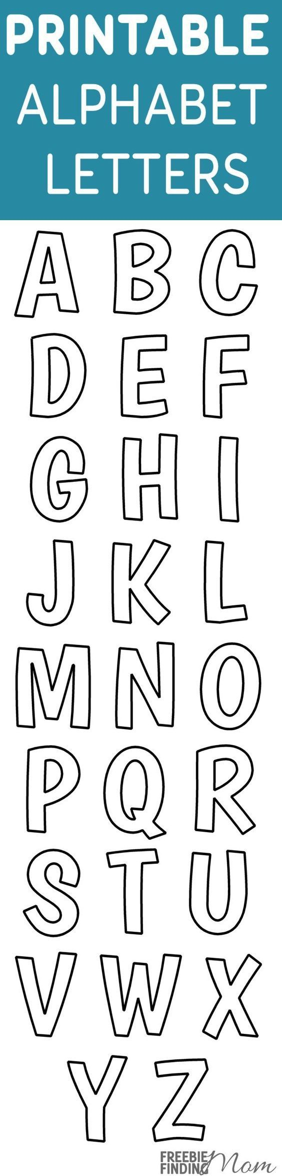 Printable Free Alphabet Templates   The Group Board On Pinterest - Online Letter Stencils Free Printable