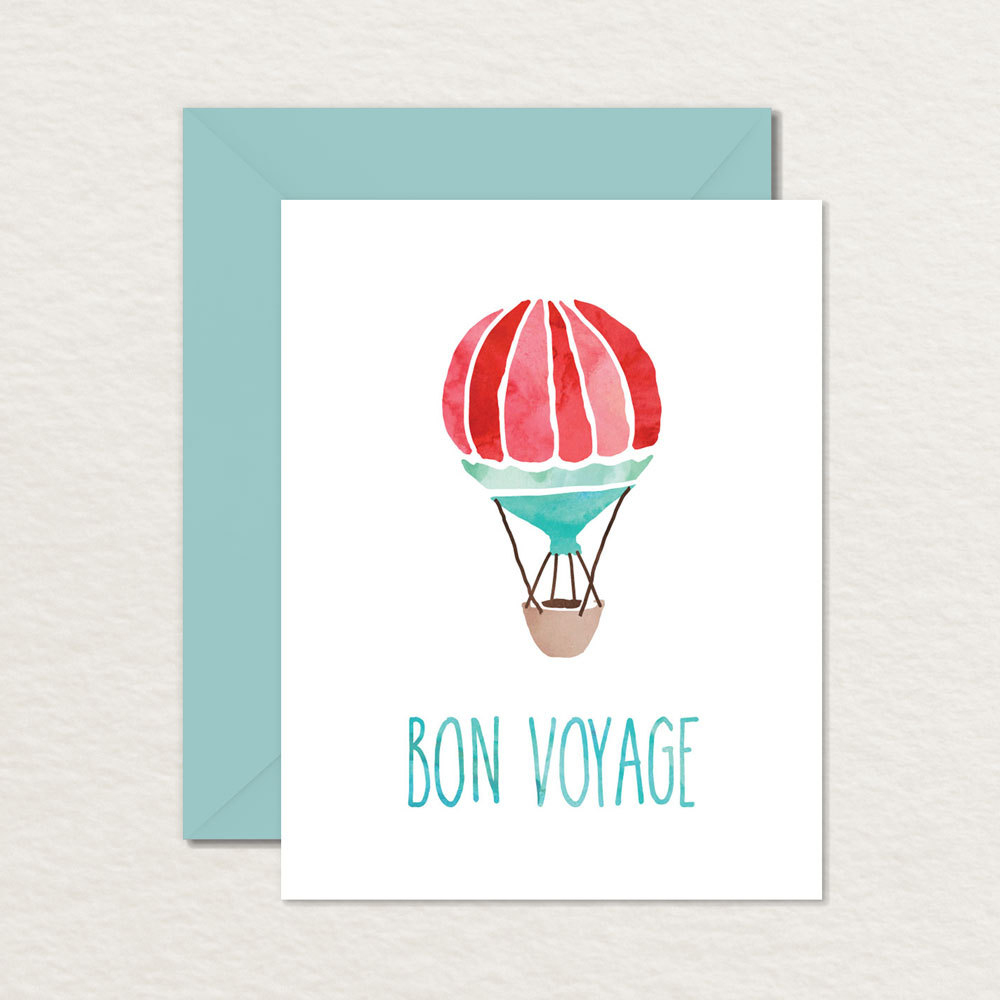 Printable Goodbye Farewell Card / Printable Bon Voyage Card / | Etsy - Free Printable Farewell Card For Coworker