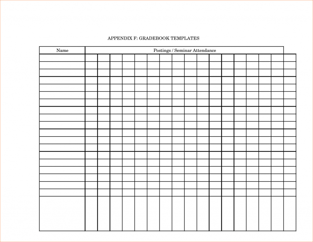 Printable Grade Book Template For Teachers - Southbay Robot Intended - Free Printable Gradebook
