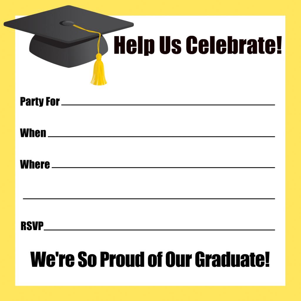 Printable Graduation Announcements 2014 | Graduate Announcement - Free Printable Graduation Party Invitations 2014