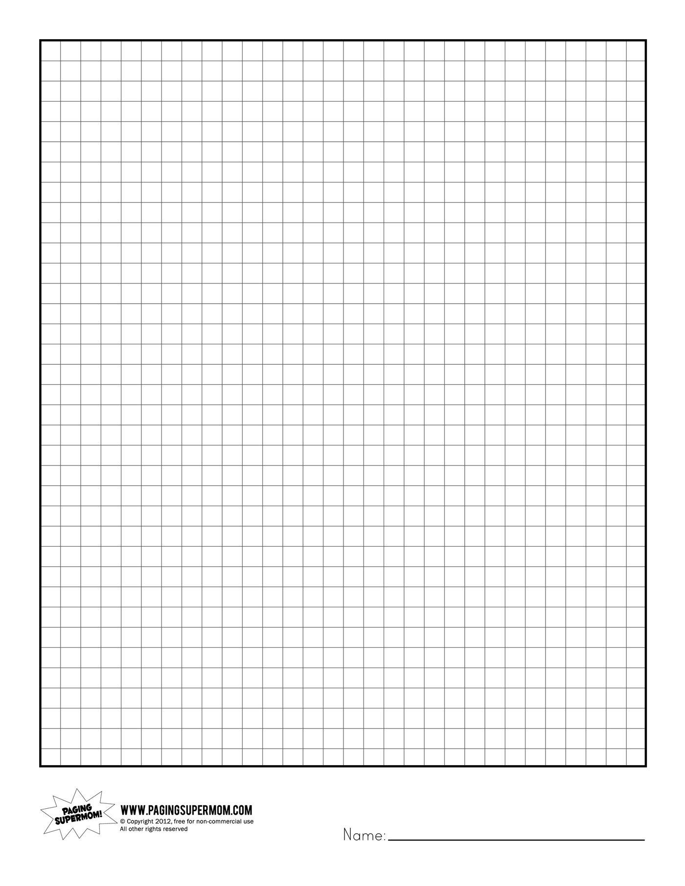 Printable Graph Paper | Healthy Eating | Printable Graph Paper - Free Printable Graph Paper