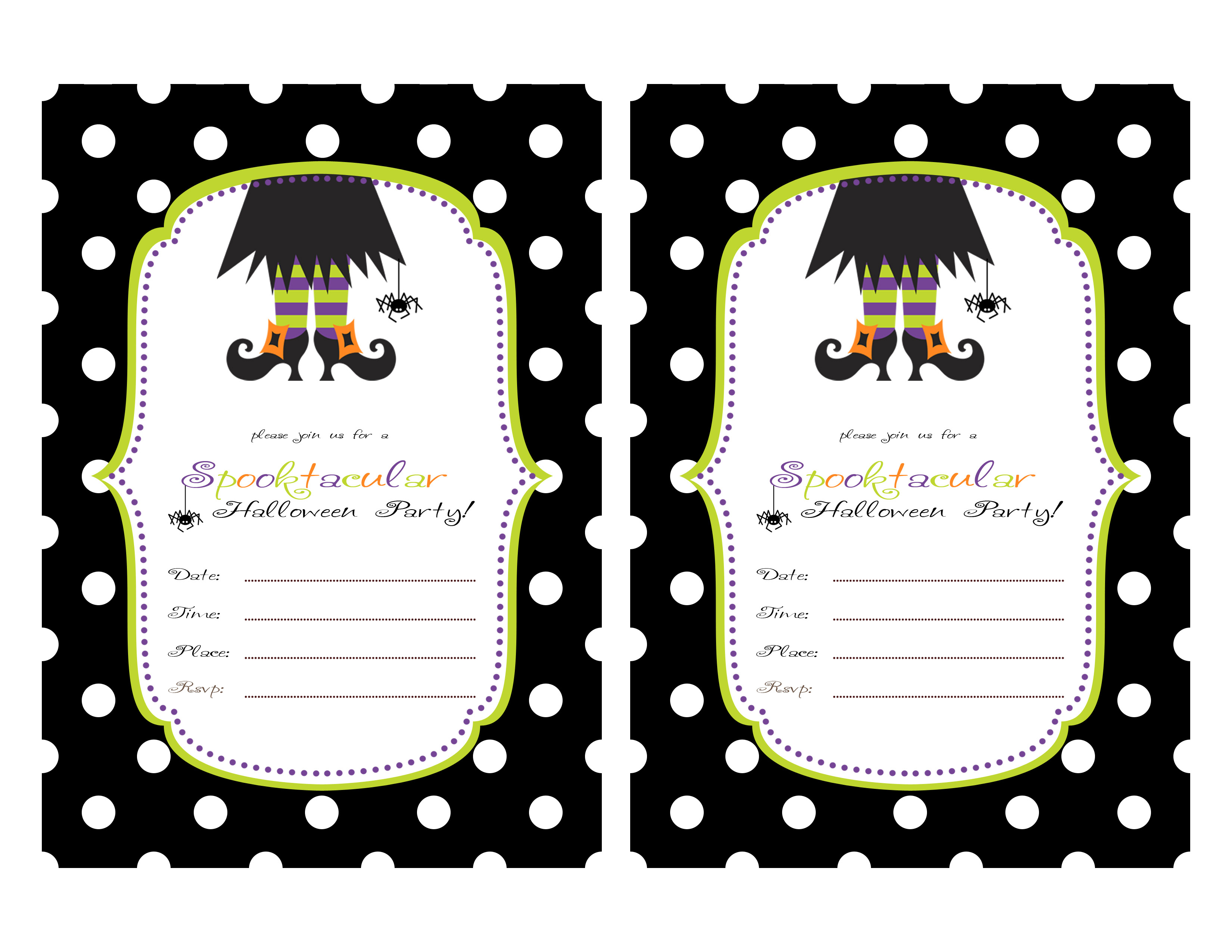 Printable Halloween Party Invitations For Kids 844 Kids Birthday - Halloween Party Invitation Templates Free Printable