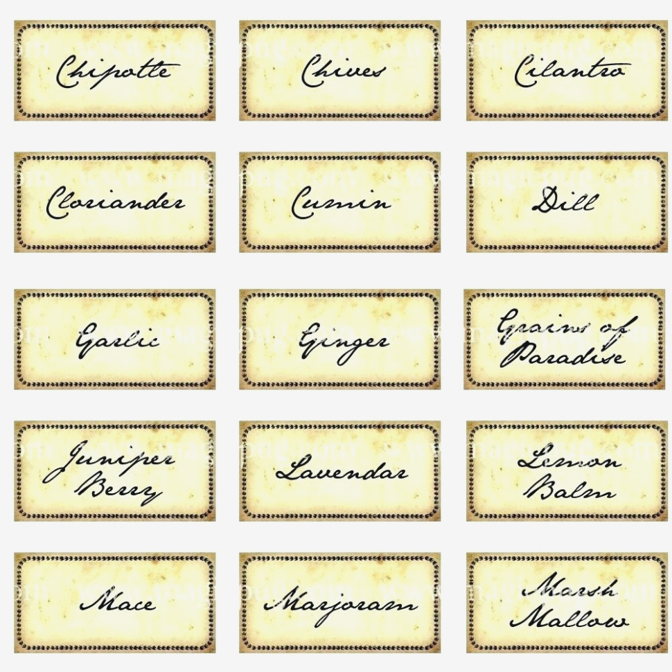 Printable: Herb Garden Labels Printable – Herb Labels Printable - Free Printable Herb Labels