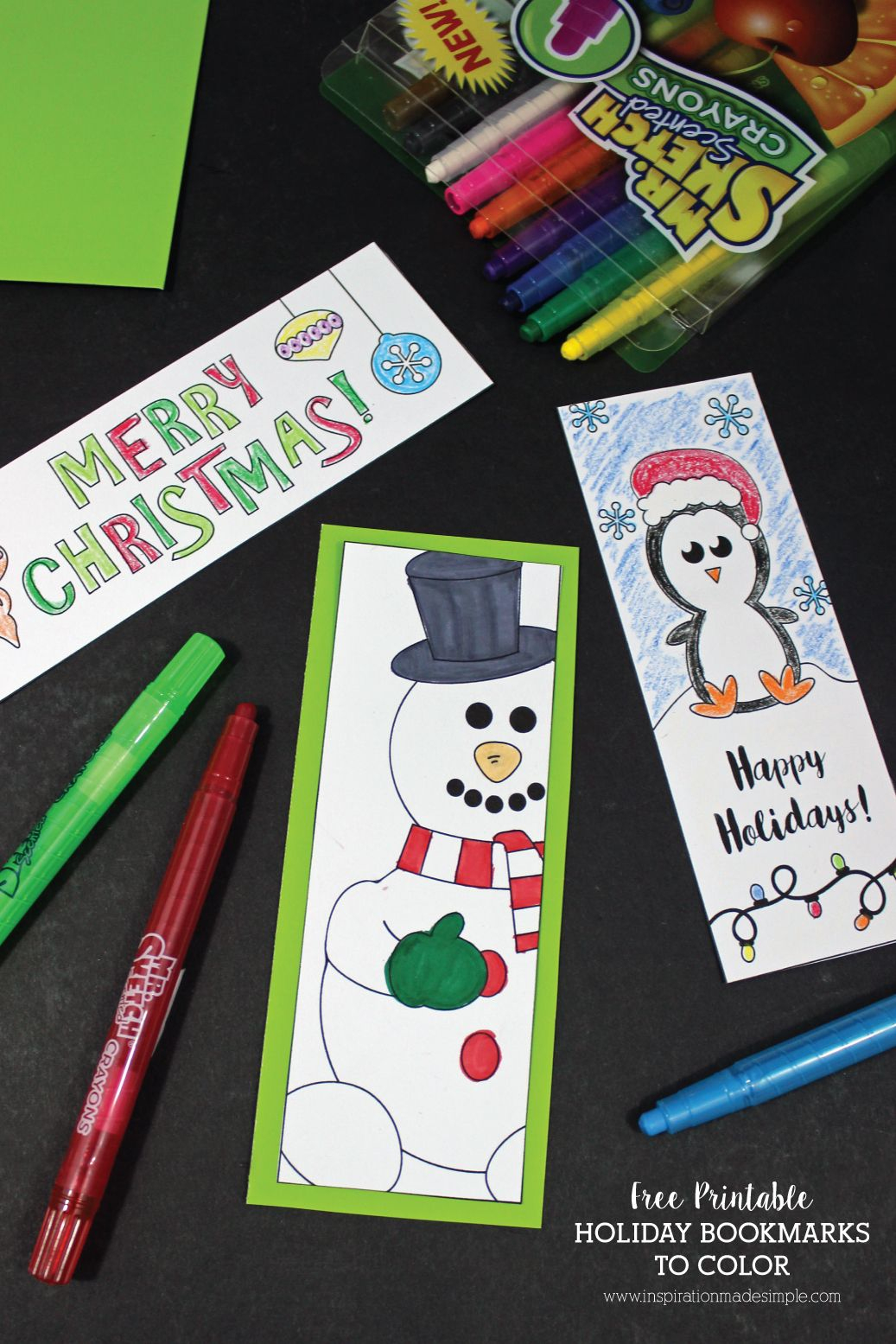 Printable Holiday Bookmarks To Color   Kid Blogger Network - Free Printable Christmas Bookmarks To Color