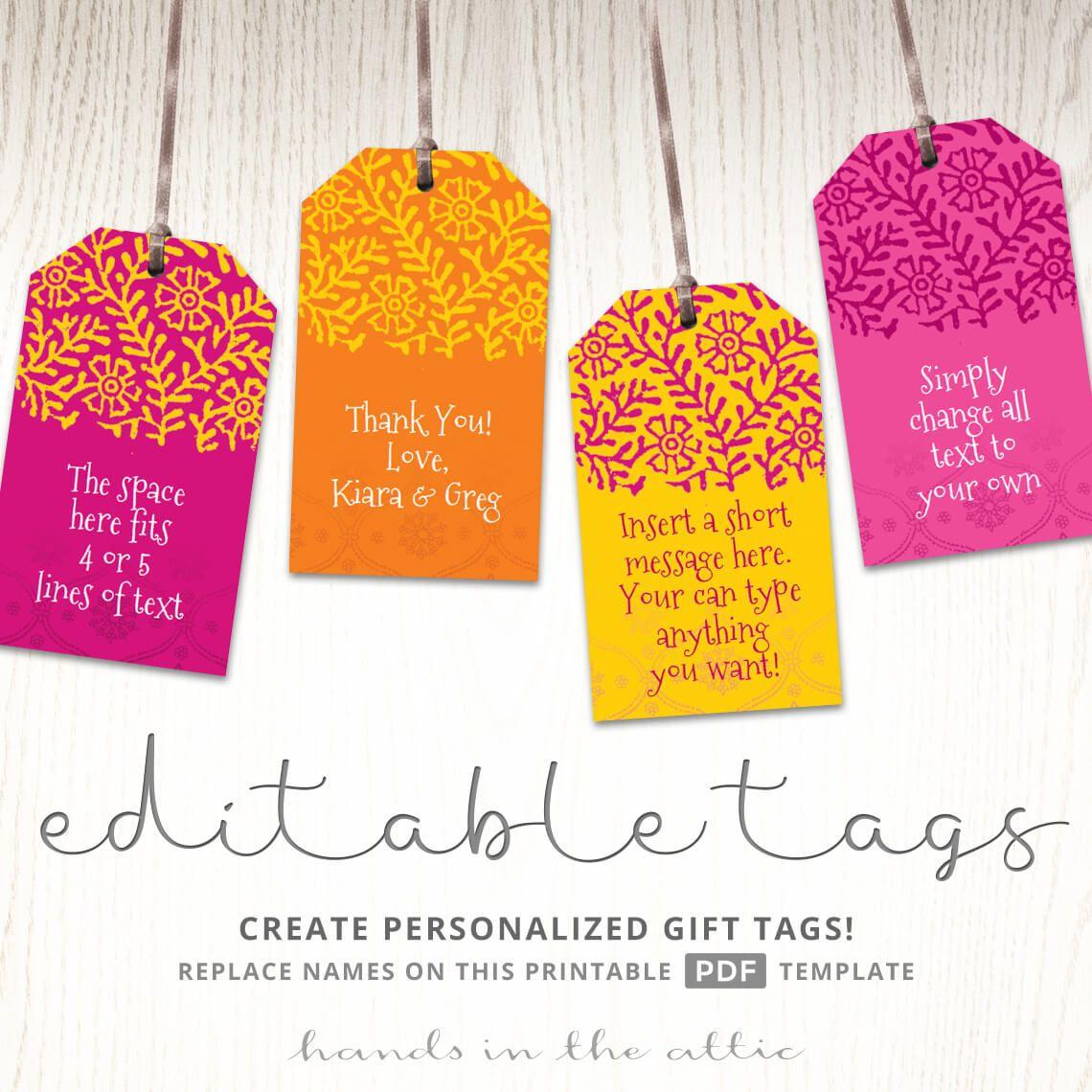 Printable Indian Wedding Gift Tags | Sri Lanka | Pinterest | Wedding - Printable Gift Tags Customized Free