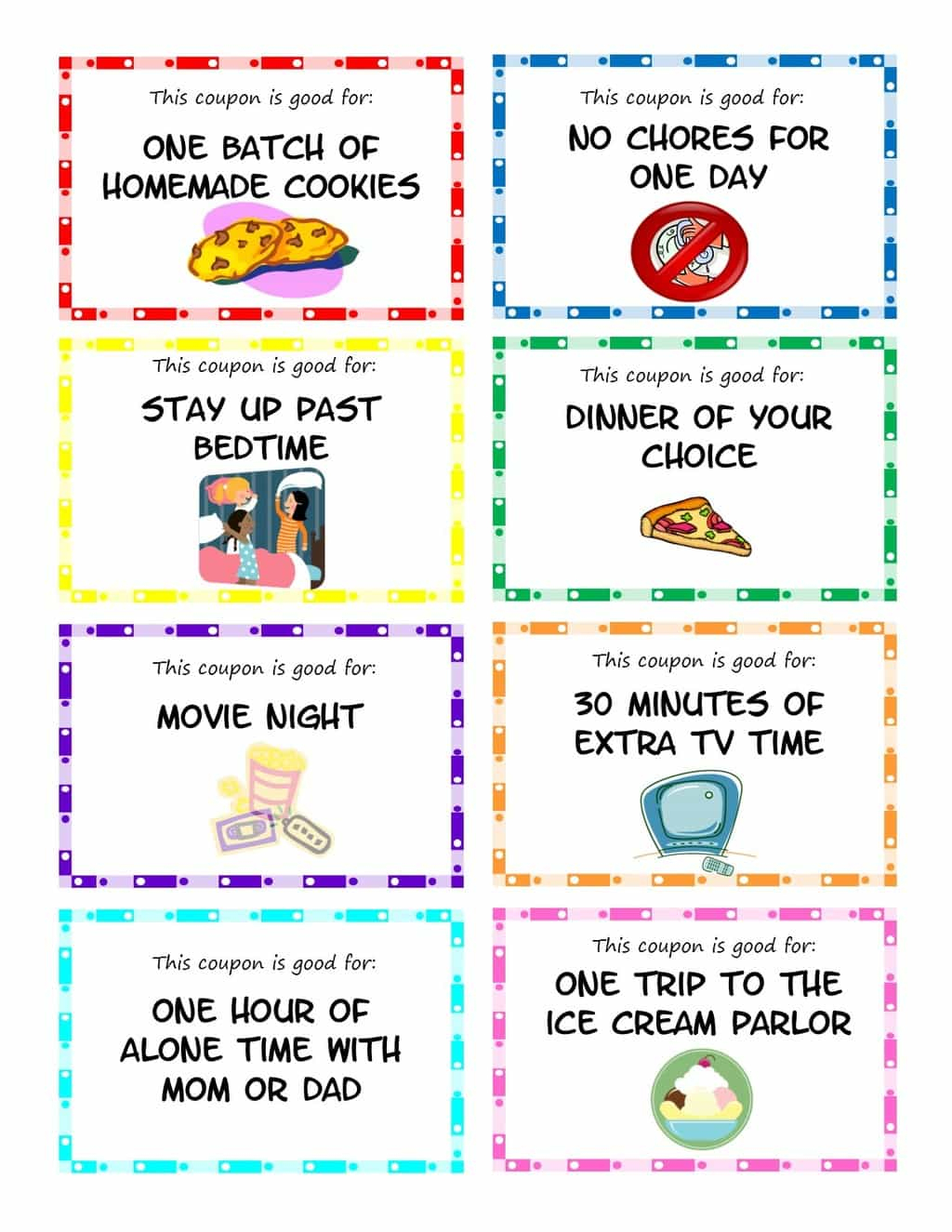 Printable Kid Coupons - Free Printable Homework Pass Coupon
