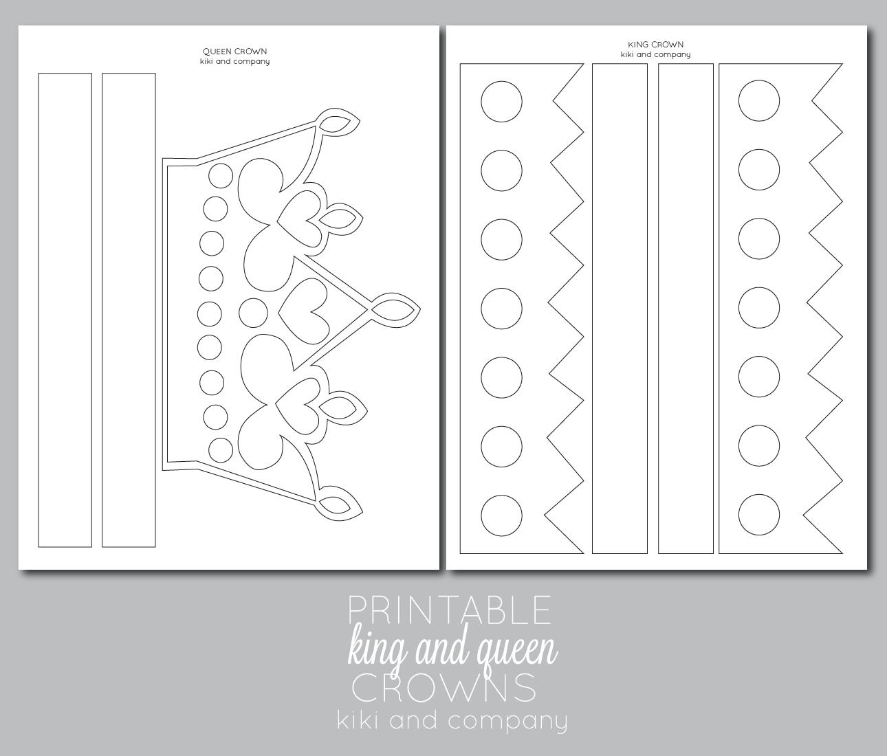 Printable Kings And Queens Crown {Free Printable} | Sofia Birthday - Free Printable King Crown Template