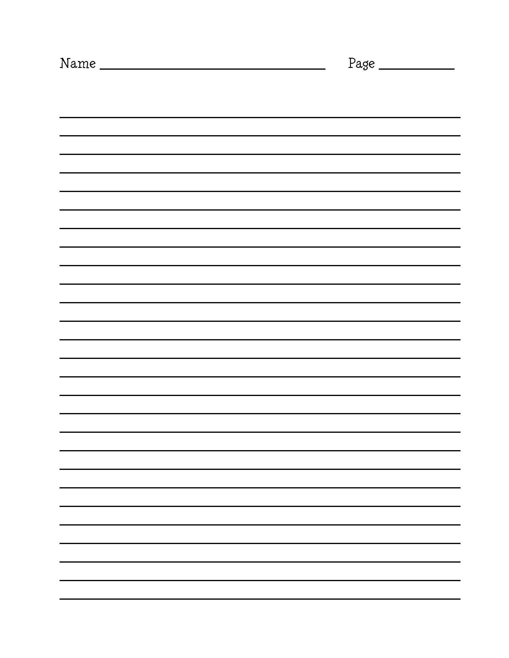 Printable Lined Writing Paper Pdf | Corner Of Chart And Menu - Free Printable Lined Writing Paper