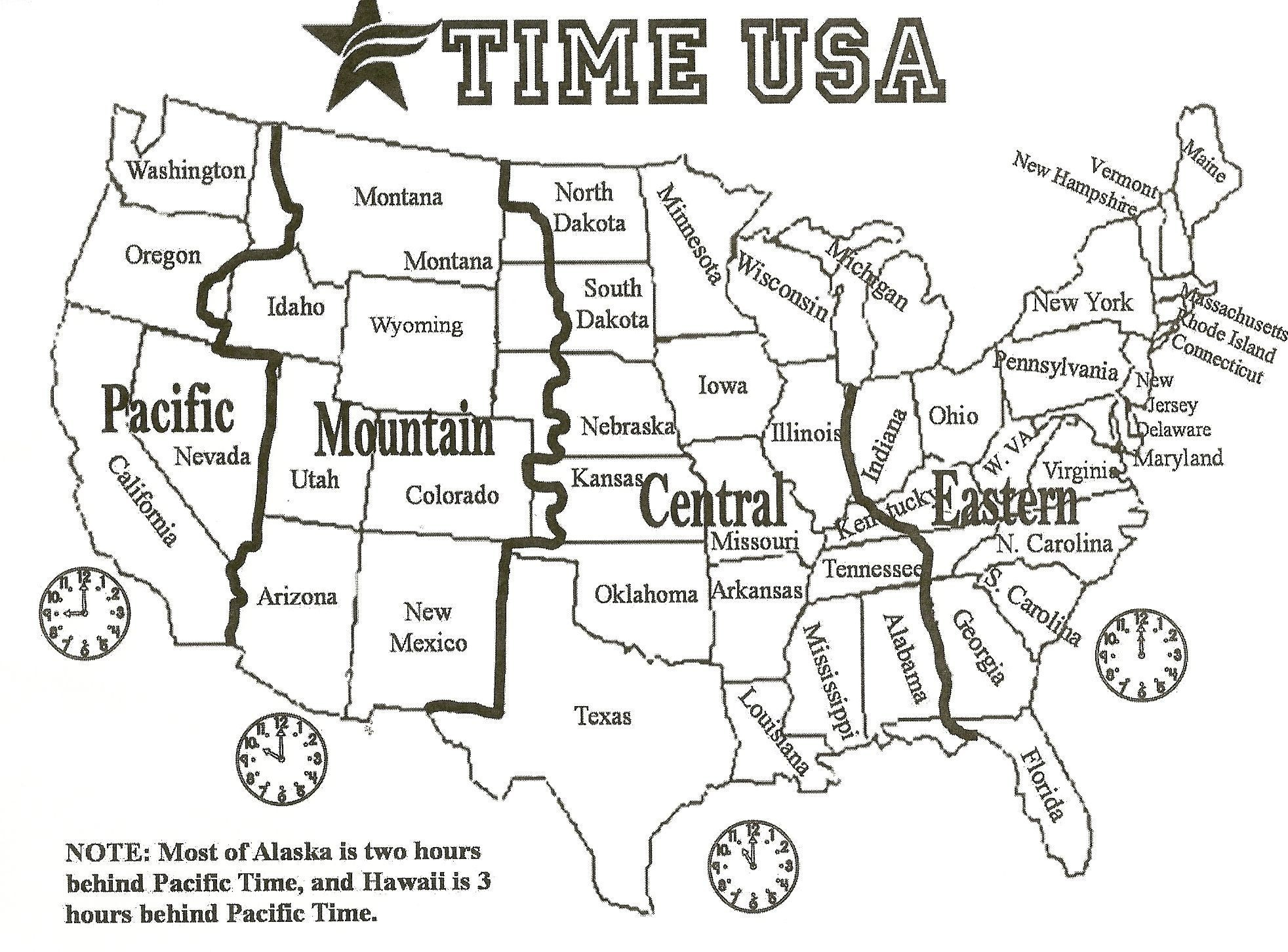Printable Map United States Time Zones State Names Save Printable Us - Free Printable Us Timezone Map With State Names