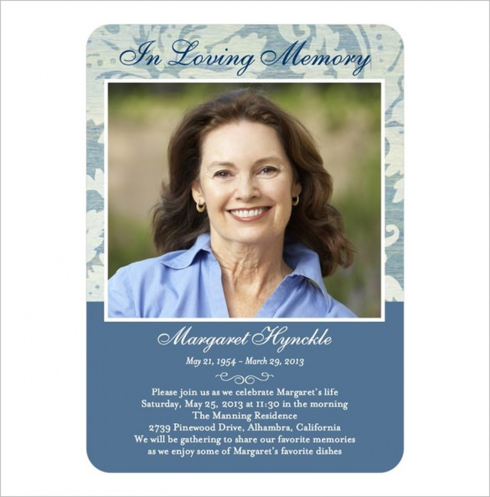 Printable Memorial Cards 21 Obituary Card Templates Free Printable - Free Printable Memorial Card Template