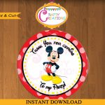 Printable Mickey Mouse Stickers Favor Tag Party Tags Thank | Etsy – Free Printable Mickey Mouse Favor Tags