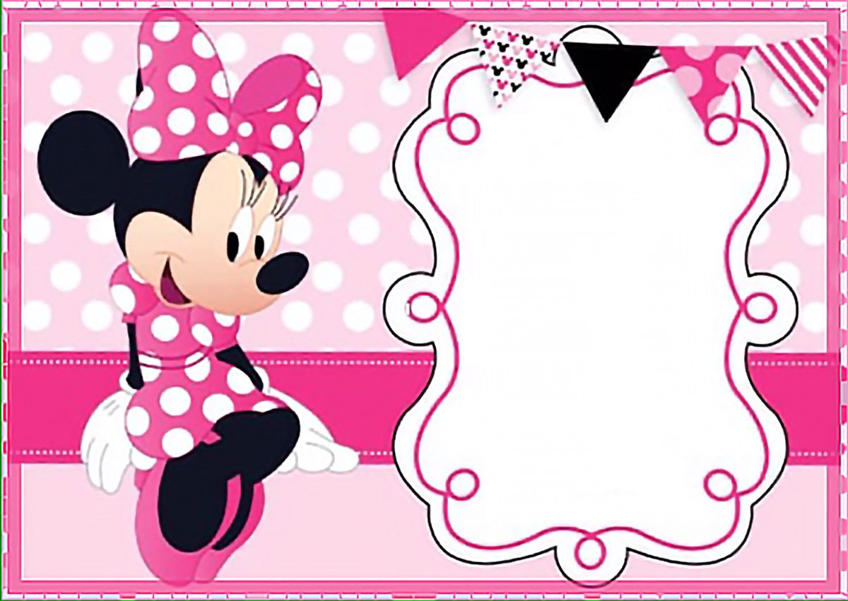 Printable Minnie Mouse Birthday Party Invitation Template - Free - Free Minnie Mouse Printable Templates