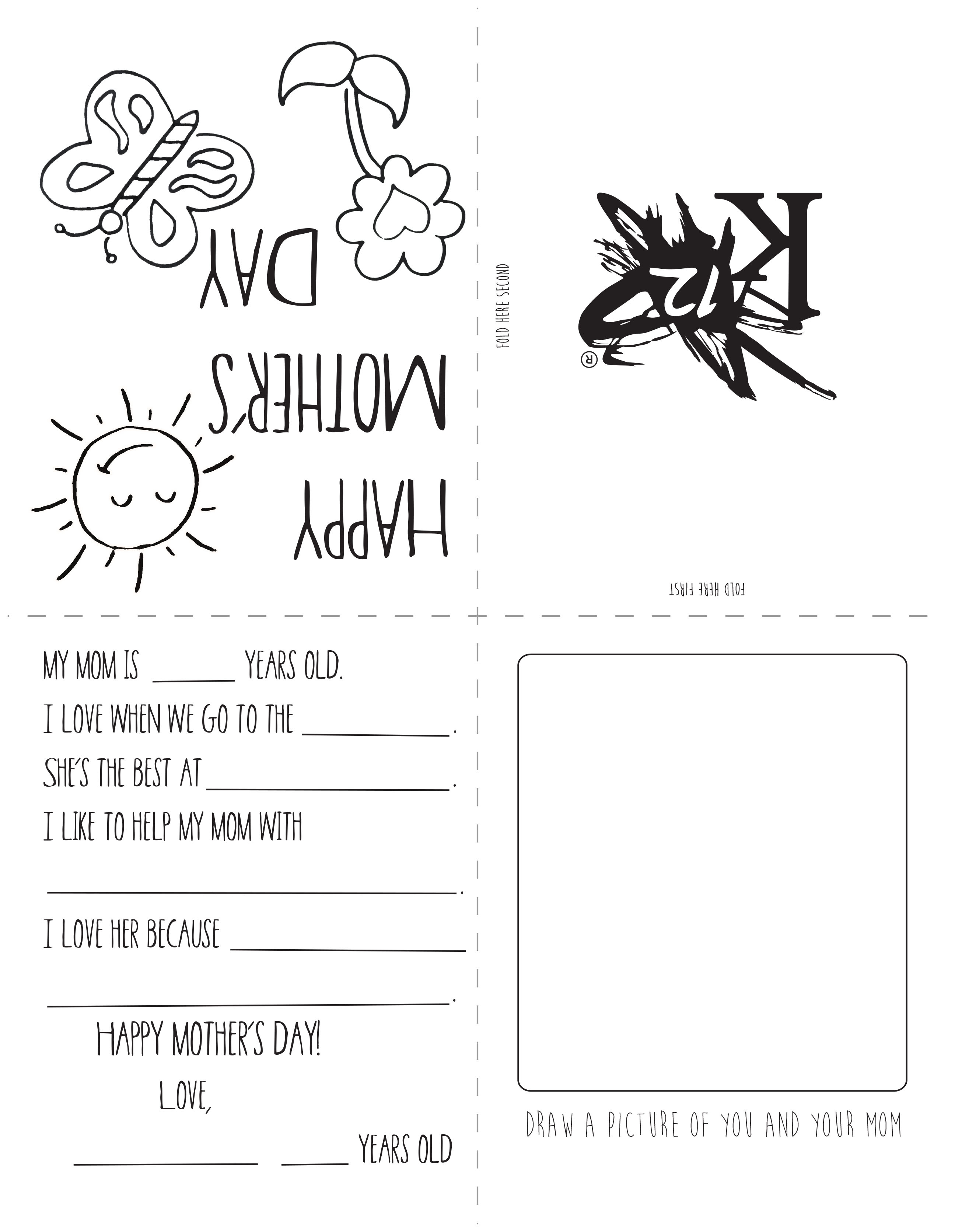 Printable Mother's Day Card - Learning Liftoff - Make Mother Day Card Online Free Printable