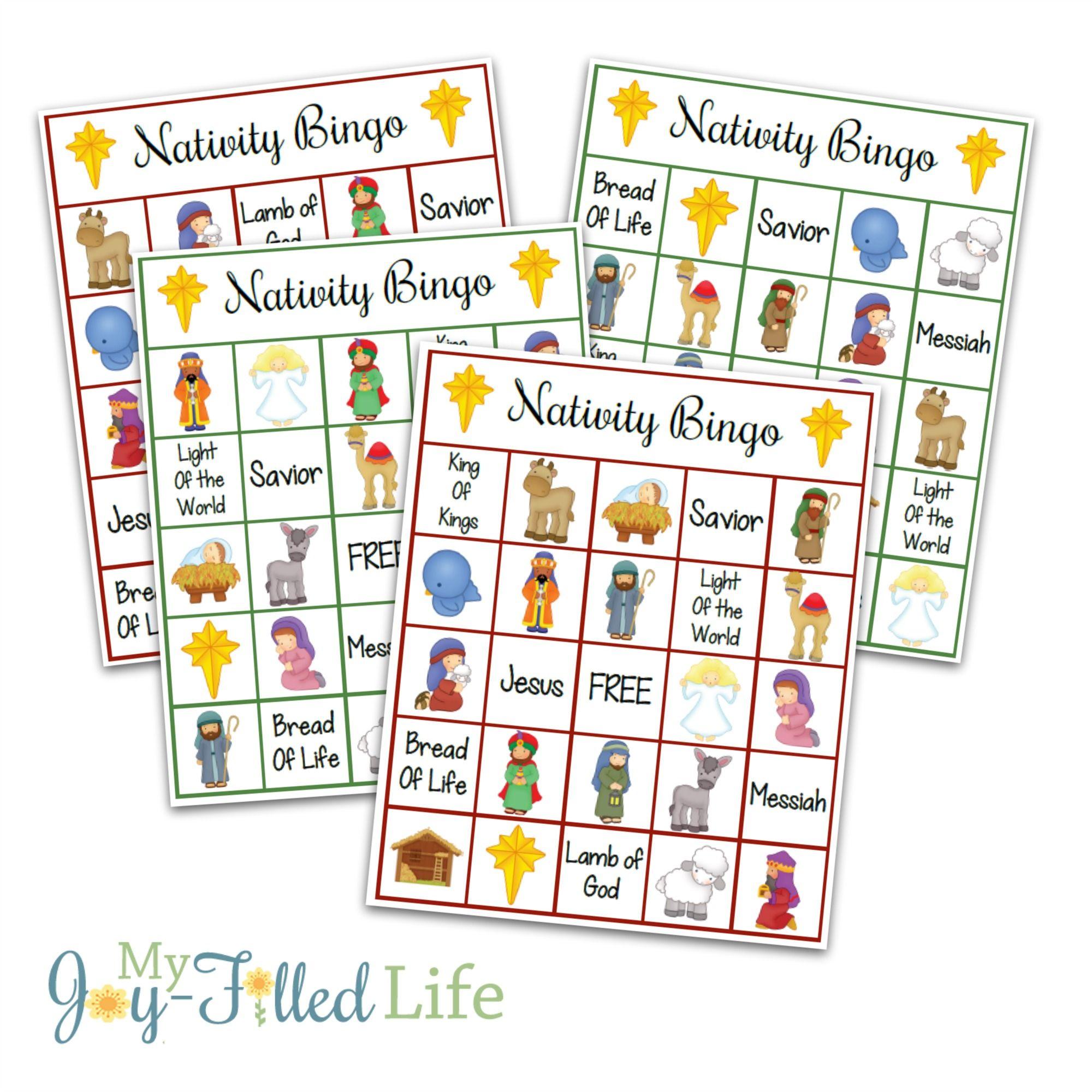 Printable Nativity Bingo | Games | Pinterest | Nativity Bingo - Free Printable Bible Bingo For Preschoolers
