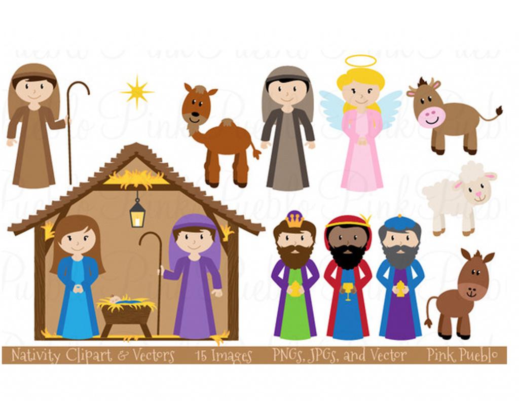 Printable Nativity Scene - Printable 360 Degree With Free Printable - Free Printable Pictures Of Nativity Scenes