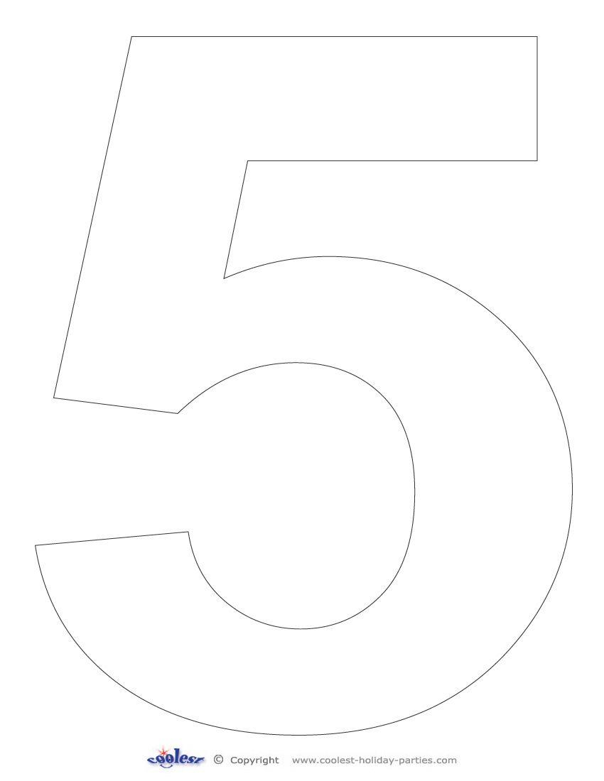 Printable Number 5 - Coolest Free Printables   Racing Party - Free Printable Number Stencils