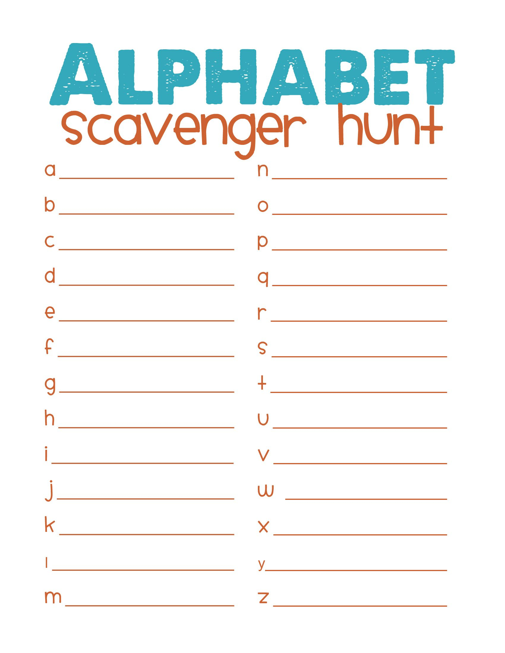 Printable Picture Scavenger Hunt - Google Search | Ahg Campout - Free Printable Scavenger Hunt For Kids
