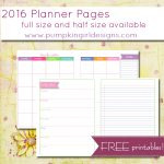 Printable Planner Pages | The Mac And Cheese Chronicles   Free Printable Diary Pages