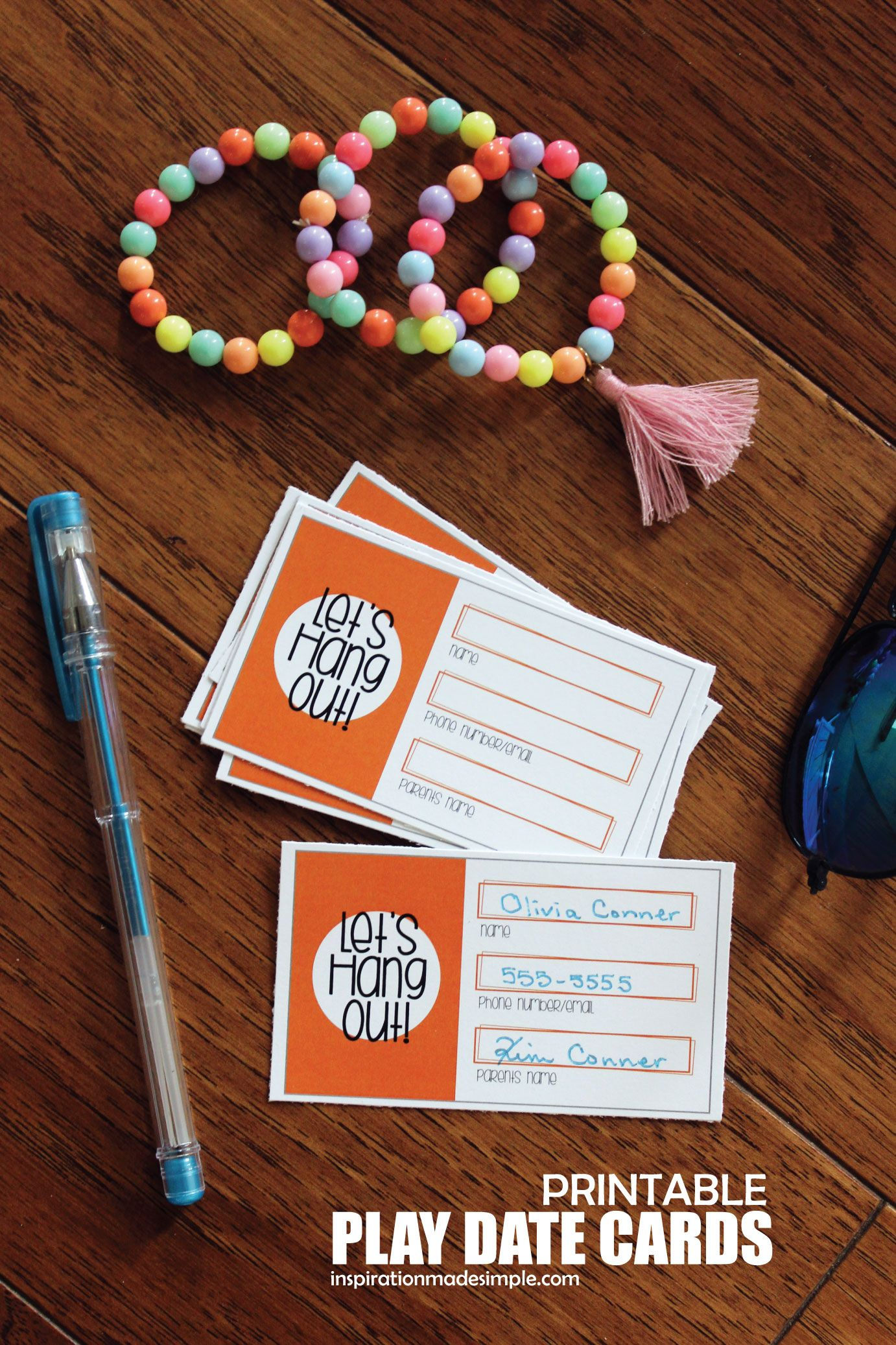 Printable Play Date Cards For Kids   Pinterest - Free Printable Play Date Cards